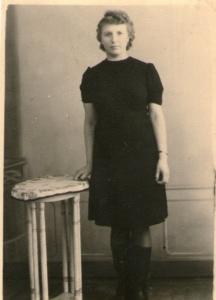 Barbara Cielecka po powrocie z obozu (styczeń 1946 r.)