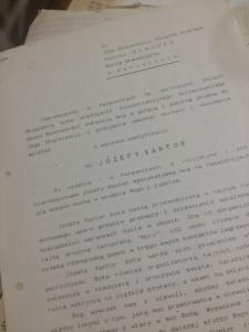 strona tytułowa pisma o beatyfikację śp. józefy Kantor ( 1992 r.)